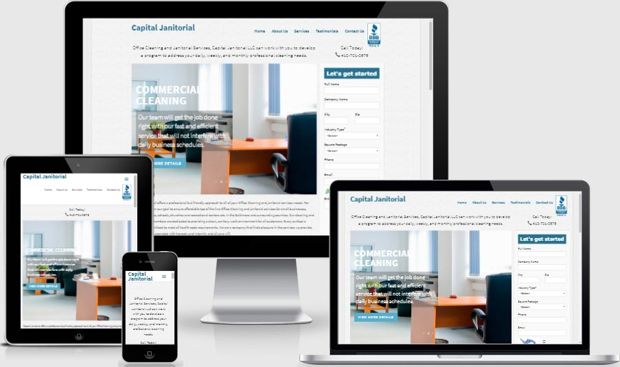 janitorial web design and development